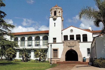 Built in 1932, Santa Barbara Junior High School is an architectural gem: red-tile roofing, soft-ivory facade, tiled walls and cherub-adorned bell tower. Equally striking is its demographic makeup. Located near Milpas Street, the school draws students from two worlds that, in some cases, are mere blocks apart.