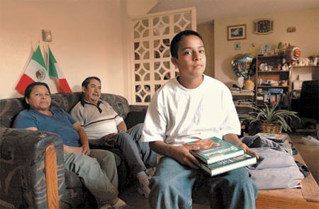 "Eduardo, a seventh-grader, has lived his entire life in a subsidized housing unit on Soledad Street. But his days at the apartment could be numbered: His older brother, a senior at Santa Barbara High, was recently involved in a gang brawl and was sent to Los Prietos Boys Camp, his family said. Now, the Santa Barbara Housing Authority, which does not tolerate drug use or gang involvement among tenants, is deciding whether to evict the family. (See his story in ""Tale of 4 Families"" sidebar)"